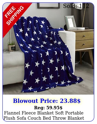 flannel fleece blanket soft portable plush sofa couch bed throw blanke