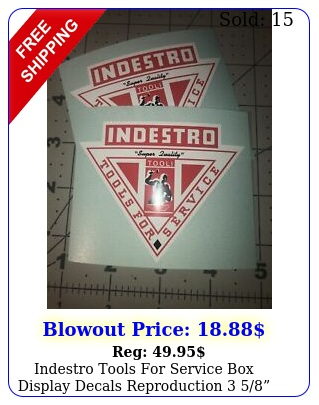 indestro tools service display decals reproduction  set o
