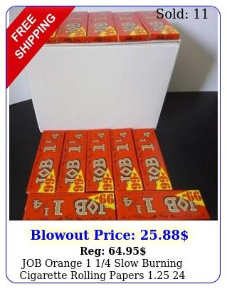 job orange  slow burning cigarette rolling papers  pack