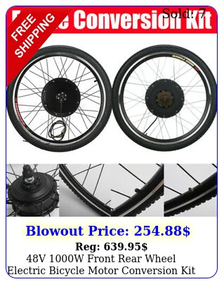 v w front rear wheel electric bicycle motor conversion kit ebike hu