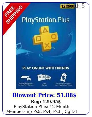 playstation plus month membership ps ps ps digital code us accoun