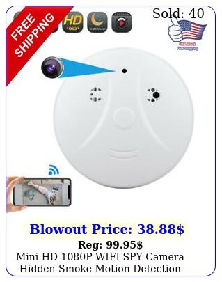mini hd p wifi spy camera hidden smoke motion detection nanny nanny cam u