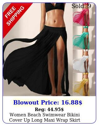 women beach swimwear bikini cover up long maxi wrap skirt dress sarong beachwea