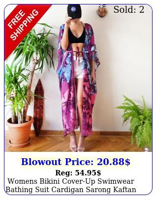womens bikini coverup swimwear bathing suit cardigan sarong kaftan maxi dres