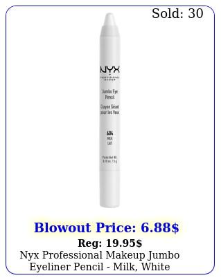 nyx professional makeup jumbo eyeliner pencil milk whit