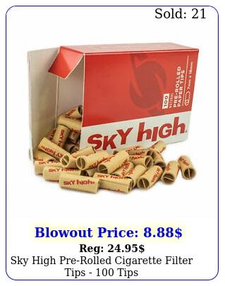 sky high prerolled cigarette filter tips  tip