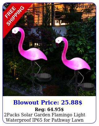 packs solar garden flamingo light waterproof ip pathway lawn yard pat
