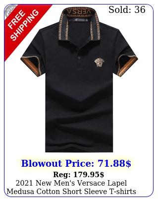 men's versace lapel medusa cotton short sleeve tshirts mx