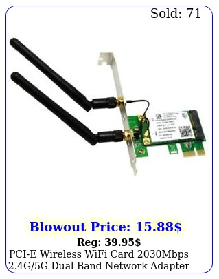 pcie wireless wifi card mbps gg dual band network adapter deskto
