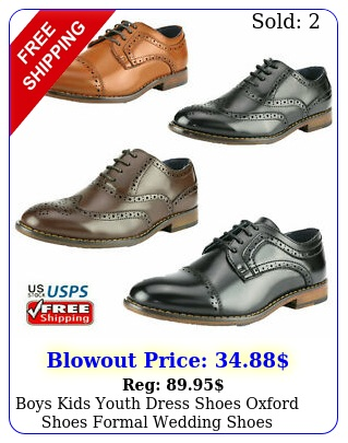 boys kids youth dress shoes oxford shoes formal wedding shoe