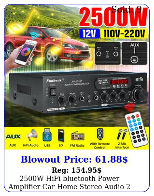 w hifi bluetooth power amplifier car home stereo audio channel usb fm au
