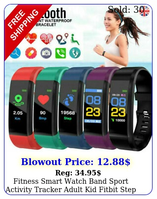fitness smart watch band sport activity tracker adult kid fitbit step counte