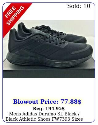 mens adidas duramo sl black black athletic shoes fw sizes t