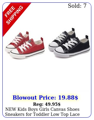 kids boys girls canvas shoes sneakers toddler low top lace up sneaker u