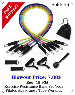 exercise resistance band set yoga pilates abs fitness tube workout bands pc