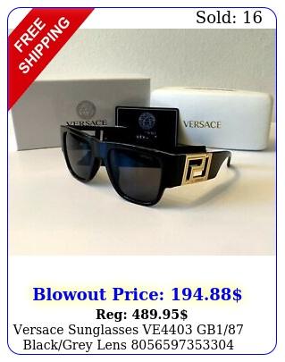 versace sunglasses ve gb blackgrey len