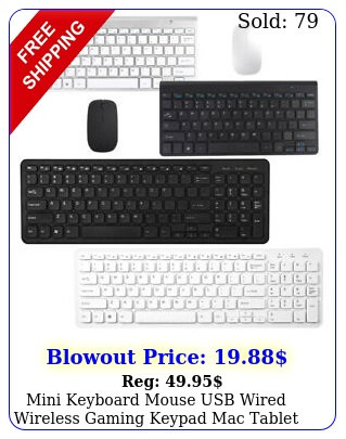 mini keyboard mouse usb wired wireless gaming keypad mac tablet laptop compute