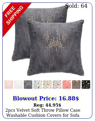 pcs velvet soft throw pillow case washable cushion covers sofa couch
