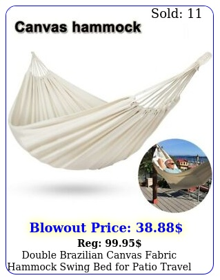 double brazilian canvas fabric hammock swing bed patio travel camping hikin