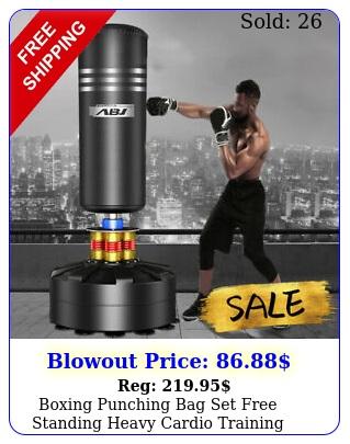 boxing punching bag set free standing heavy cardio training kickboxing adult mm