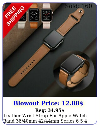 leather wrist strap apple watch band mm mm series    s