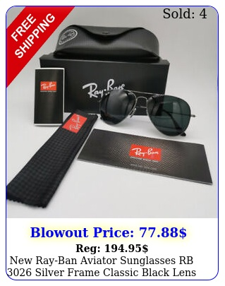 rayban aviator sunglasses rb silver frame classic black lens mm u