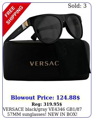 versace blackgray ve gb mm sunglasses in box authenti