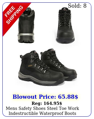 mens safety shoes steel toe work indestructible waterproof boots shoes siz