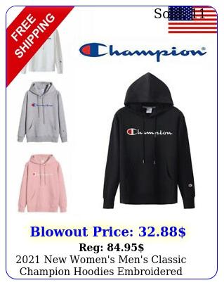 women's men's classic champion hoodies embroidered hooded sweatshirt