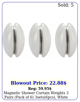 magnetic shower curtain weights pairs pack of setspcs whit