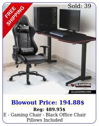 e gaming chair black office chair pillows include