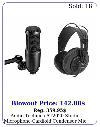 audio technica at studio microphonecardioid condenser mic  headphone