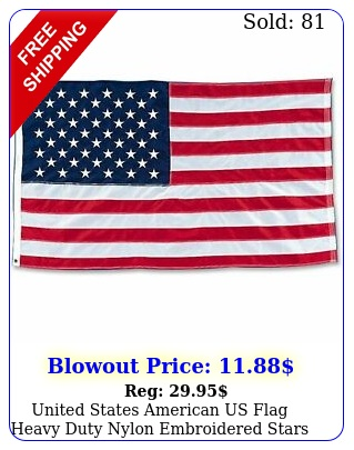 united states american us flag heavy duty nylon embroidered stars usa flags bes