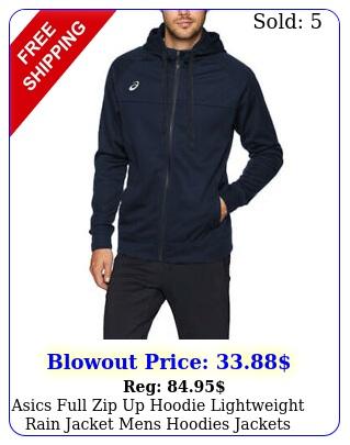 asics full zip up hoodie lightweight rain jacket mens hoodies jackets men wome