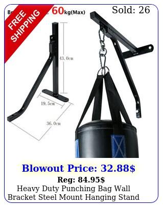 heavy duty punching bag wall bracket steel mount hanging stand boxing mma u