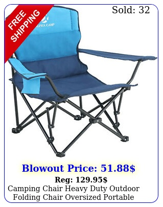 camping chair heavy duty outdoor folding chair oversized portable hiking chai