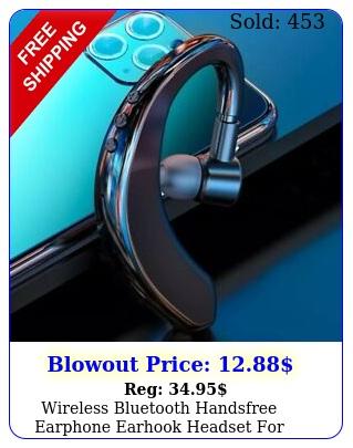 wireless bluetooth handsfree earphone earhook headset iphone samsung androi