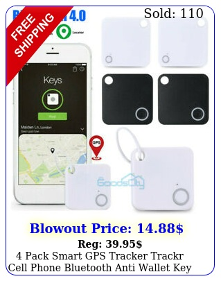 pack smart gps tracker trackr cell phone bluetooth anti wallet key lost finde