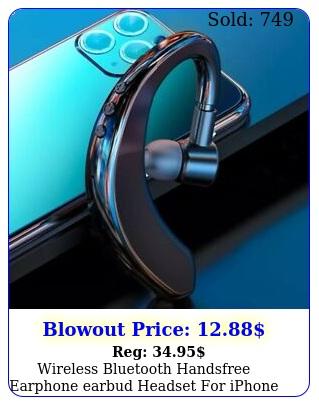 wireless bluetooth handsfree earphone earbud headset iphone samsung androi