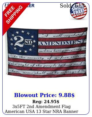 xft nd amendment flag american usa star nra banner gun rights patriot ros