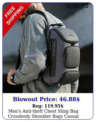 men's antitheft chest sling bag crossbody shoulder bags casual daypack backpac