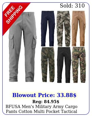 bfusa men's military army cargo pants cotton multi pocket tactical work trouser