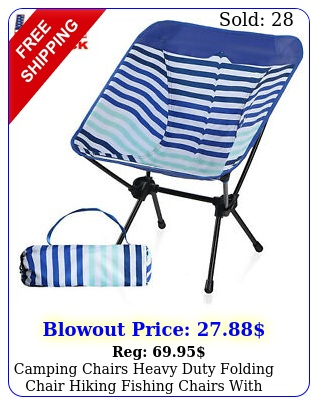 camping chairs heavy duty folding chair hiking fishing chairs with storage ba