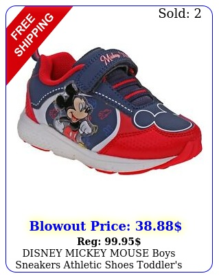 disney mickey mouse boys sneakers athletic shoes toddler's sizes
