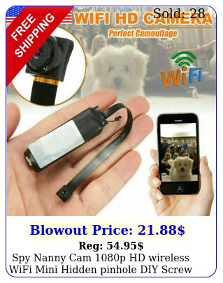 spy nanny cam p hd wireless wifi mini hidden pinhole diy screw camera dvr u