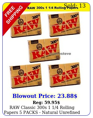 raw classic s  rolling papers packs natural unrefined