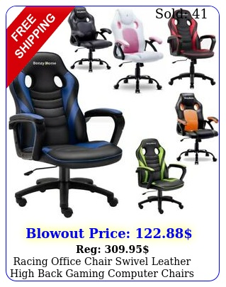 racing office chair swivel leather high back gaming computer chairs desk seatin