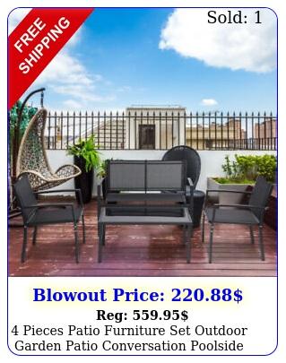 pieces patio furniture set outdoor garden patio conversation poolside chair