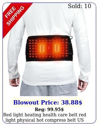 red light heating health care belt red light physical hot compress belt us stoc