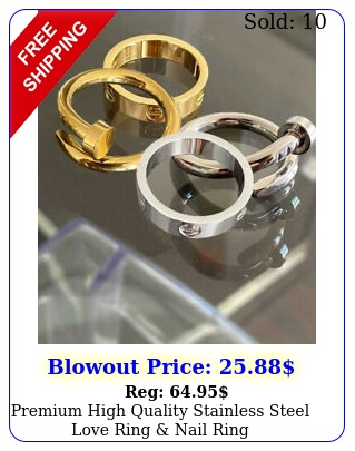 premium high quality stainless steel love ring nail rin